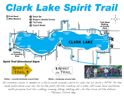 Lake Michigan Beaches Map by The Clark Lake Spirit Trail Clark Lake Michigan