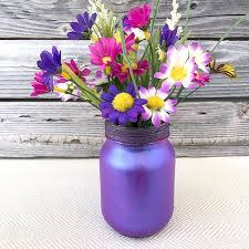 Mason Jar Vases Pretty Painted Mason Jar Vase Quick And Easy Craft 100 Directions