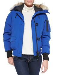 canada goose sale black friday canada goose chilliwack bomber jacket with fur hood in blue for