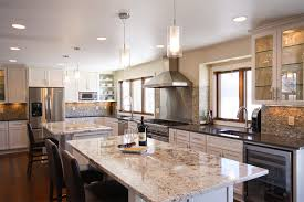 very attractive kitchen with 2 islands simple decoration kitchen