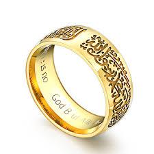 gold male rings images Online shop gold mohammad rasool allah rings stainless steel jpg