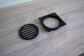 6 Floor Drain by Square Matte Black Floor Waste Premium Electroplated Homegear