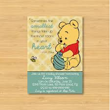 Baby Invitation Card Winnie The Pooh Baby Shower Invitations Kawaiitheo Com