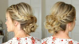 updos for long hair with braids lace braid homecoming updo missy sue youtube