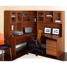 Solid Wood Corner Desk With Hutch by Unique Furniture Desk With Corner Hutch And Optional Chair