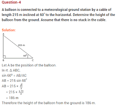 some applications of trigonometry cbse class 10 extra questions