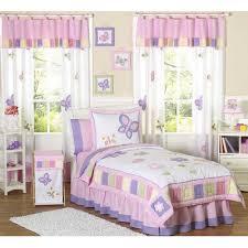 Purple Toddler Bedding Set Jojo Butterfly Pink Purple Decorating Rooms