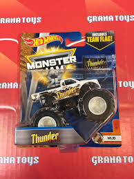 thunder 4x4 3 7 mud 2017 wheels monster jam case e grana toys