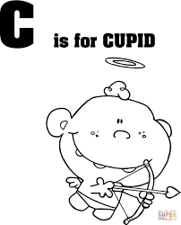 letter c is for cupid coloring page free printable coloring pages
