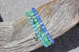 glass bracelet images Beach glass bracelets devocean co jpg