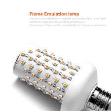 halloween flickering light bulbs online shop 110v 220v e27 creative fire flame effect night light