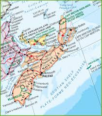 Map Of Canada With Cities by Nova Scotia Maps Canada Maps Of Nova Scotia Ns