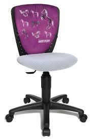 bureau violet mignon fauteuil de bureau enfant chaise cheval violet zoom