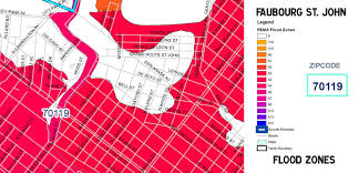 New Orleans Flood Map by Maps Faubourg St Johnfaubourg St John