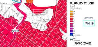Louisiana Flood Zone Map by Maps Faubourg St Johnfaubourg St John