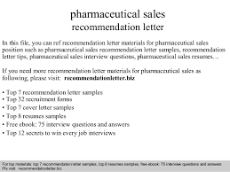 Pharmaceutical Sales Resume Sample by Pharmaceutical Sales Recommendation Letter