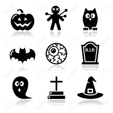 halloween black icons set pumpkin witch ghost royalty free