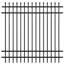allure aluminum worthington 4 ft x 6 ft black aluminum 3 rail no dig common 3 8 ft x 4 7 ft actual 3 8 ft x 4 7 ft grand