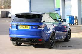 black land rover with black rims range rover sport svr with hre p93l in satin black hre