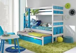 TRIPLE BUNK BED  PULL OUT GUEST BED WITH MATTRESSCHILDRENS - Triple bunk beds with mattress