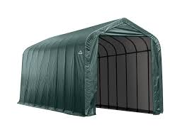 amazon com shelterlogic peak style garage storage shelter green