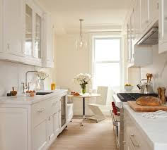 Photos Of Galley Kitchens White Galley Kitchen And Banquette Seating By Alyssa Kapito