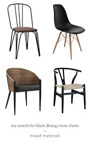 mixed dining room chairs jojotastic my search for the perfect black dining room chairs
