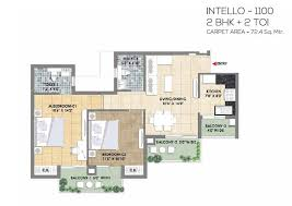 1100 sq ft 2 bhk 1100 sq ft apartmentintello for sale in tata destination