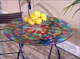 paint glass table top how to paint a colorful kaleidoscope table hgtv