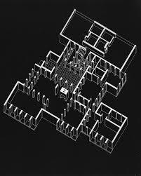 louis kahn morris house project 1958 ax plan oblique