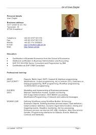 Resume Personal Information Sample by 1 Cv Structure How To Write The Cv 11 Curriculum Vitae 12 Personal