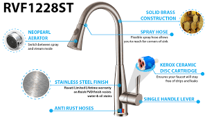 ruvati rvf1228st pullout spray kitchen faucet stainless steel rvf1228 ruvati kitchen faucet