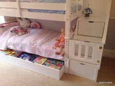 Bedtime Inc Bunk Beds Staircase Bunk Bed White Waxed Built In Storage Steps Bedtime