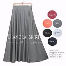 rok panjang muslim rok panjang muslimah terbaru diandra umbrella skirt katun baloteli
