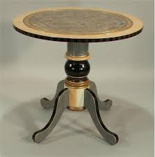 Pedestal Accent Tables Round Pedestal End Table Melon Ivory From Suzanne Fitch