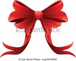 big ribbon bow illustration of big bow on clip