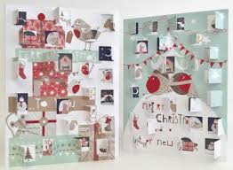 robins u0026 christmas presents advent calendar card karenza paperie