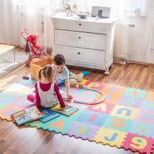 tappeti puzzle tappeto puzzle da 86 pezzi in colorato tectake