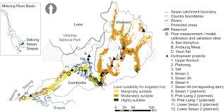 Mekong River Map Model Based Assessment Of Water Food And Energy Trade Offs In A