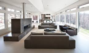 contemporary livingroom nature s drama laurentian house contemporary living room