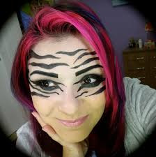 Zebra Halloween Makeup by Zebra Make Up Tutorial Youtube