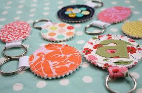 Handmade Fabric Crafts - scrap your stash guest post fabric scrap key chain tutorial