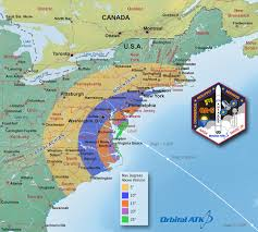 Map Pad Antares Rolling Out To Launch Pad 72 Hour Weather Forecast