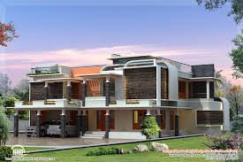 unique modern villa design kerala house design idea