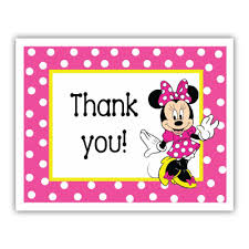 minnie mouse thank you cards thank you thanks so much note cards minnie mouse