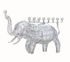 elephant menorah copa judaica wire elephant menorah qvc