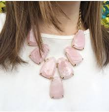 rose quartz rose necklace images Kendra scott harlow gold necklace in rose quartz a silver breeze jpg
