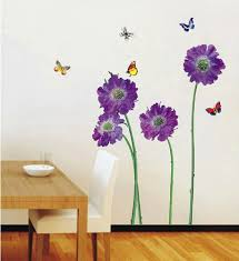 walplus huge flowers wall stickers office home decoration 50cm