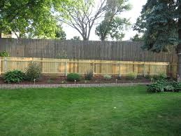 Fence Ideas For Small Backyard by Design Backyard Privacy Fence Outdoor Design And Ideas