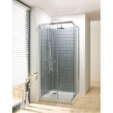 Simpsons Bathroom Simpsons Edge 1000mm Bifold Shower Door Silver